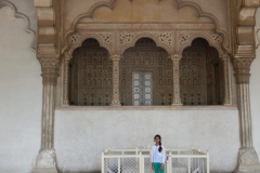 Agra Fort - In front of the stage where King would have sessions