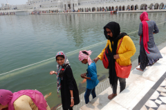 Amritsar & Golden Temple - Pond as we touch the water
