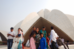Delhi's famous Lotus Temple - the family snap