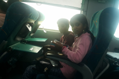 Inside the Kalka Shatabdi train which we repeatedly used during the trip