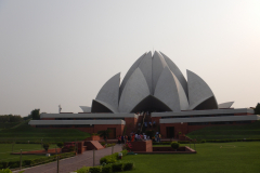 Lotus Temple- Another view of this architectural marvel