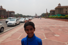 Rashtrapathi Bhavan in the distant background