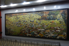 Jallianwala Bagh - The massacre is depicted through painting