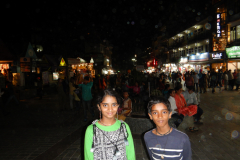 Manali - Mall road in the night