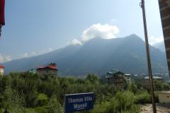 Manali - Outside Hotel Thomas Villa