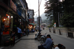 Manali - View of the Mall Road