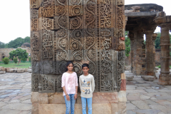 Qutub Minar - Art work on the Qutab Complex structures