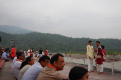 Rishikesh Triveni Ghat Aarti - Another view of the Spectators
