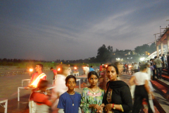 Rishikesh Triveni Ghat Aarti - Family after the ritual
