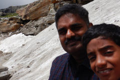 Manali Rohatang Pass - I and Nandan on the visit to ice on the rock