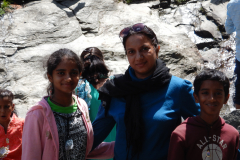 Manali Rohatang Pass - In front of the waterfall