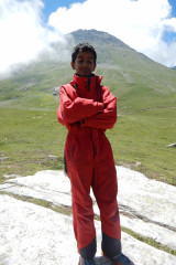 Manali Rohatang Pass - Suited like Neil Amstrong