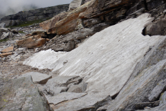 Manali Rohatang Pass - on the rock, Snow turned into ice