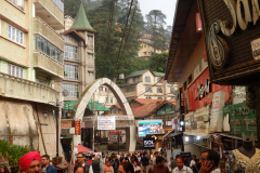Shimla Mall Road - A great time is the late evening when the cold sets in