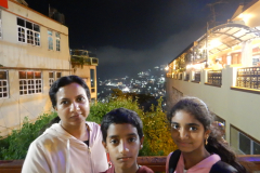 Shimla Mall Road - Nights are cool with the background of the Hills