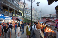 Shimla Mall Road - as the fog sets in