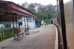Shimla Toy Train - Train entering a tunnel