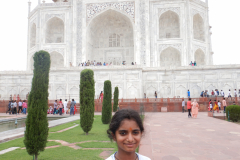 Taj Mahal - Gayathri is front