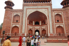 Taj Mahal - I am with the family in front of the gate