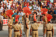 Wagah Border Ceremony - BSF Soldiers are on the ground