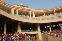 Wagah Border Ceremony - INDIA is written on top of the Gallery