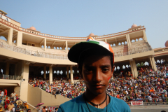 Wagah Border Ceremony - Nandan is facing the Gallery
