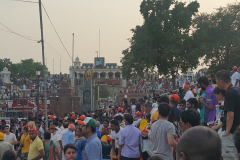 Wagah Border Ceremony - Pakistani area can be seen, afar