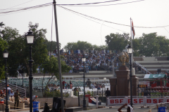 Wagah Border Ceremony - Pakistani gallery is seen