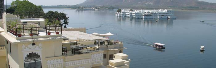 Aashiya Haveli - view from the lake facing hotel we were supposed to stay in Udaipur.