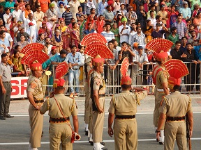 Featured Image - Wagah Border Ceremony - BSF Soldiers are on the ground