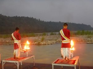 Featured - Rishikesh Triveni Ghat Aarti - Aarti is in progress