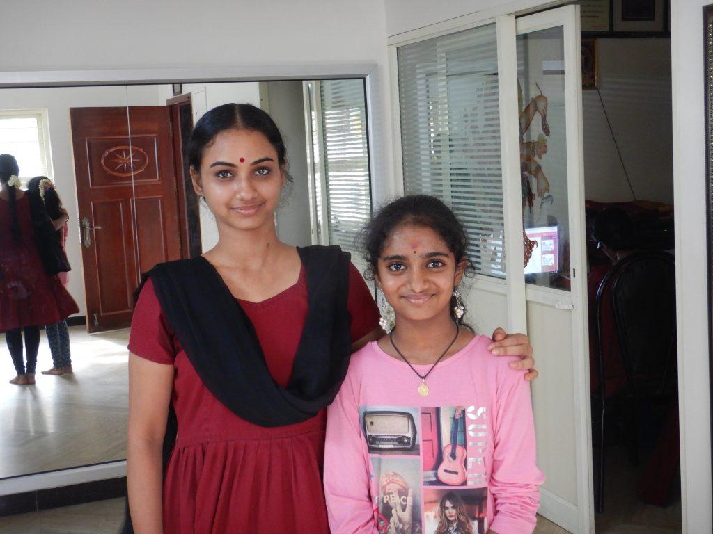 Gayathri with her idol, Harinie Jeevitha of Sridevi Nrithyalaya, Chennai