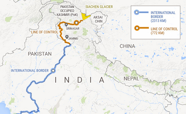 Siachen Glacier in Map