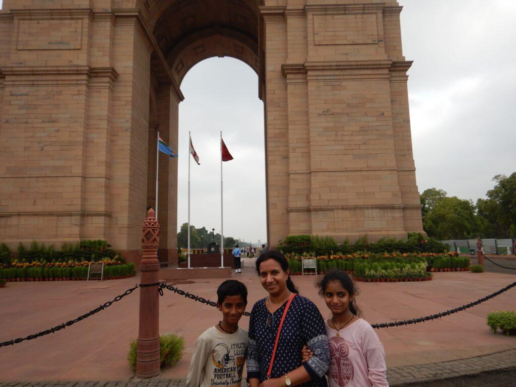 Gayathri at the India Gate