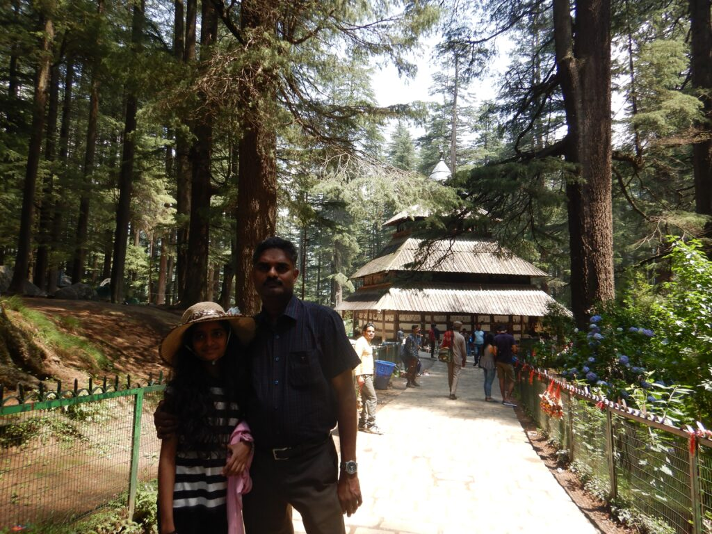 Manali - at the Hidimba devi temple with Father