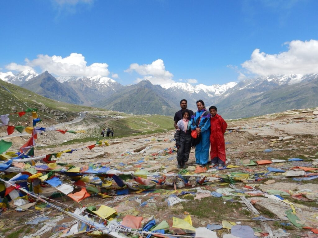 Rohtang Pass - Summit of the Rohtang Pass, a family photo