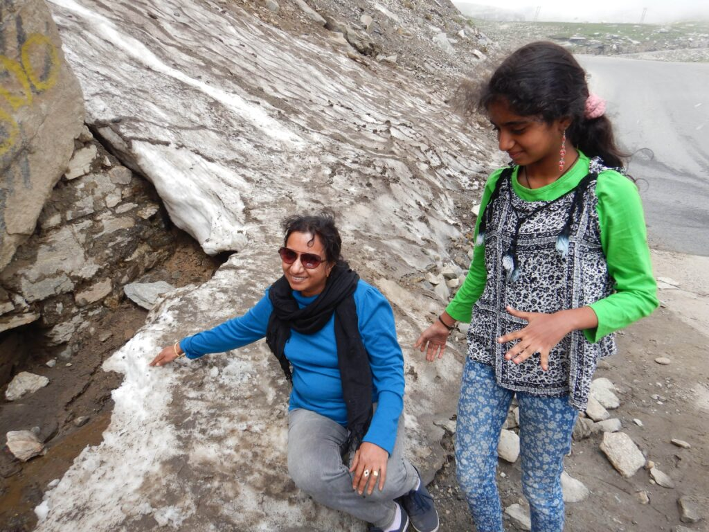 Rohtang Pass - touching the snow turned to ice in July
